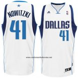 Camiseta Dallas Mavericks Dirk Nowitzki #41 Blanco