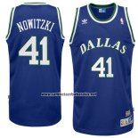 Camiseta Dallas Mavericks Dirk Nowitzki #41 Retro Azul