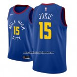 Camiseta Denver Nuggets Nikola Jokic #15 Statement 2018-19 Azul