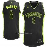 Camiseta Electricidad Moda Brooklyn Nets Deron Williams #8 Negro