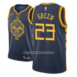 Camiseta Golden State Warriors Draymond Green #23 Ciudad 2018-19 Azul