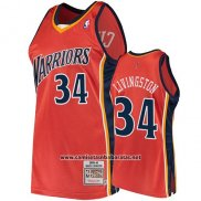 Camiseta Golden State Warriors Shaun Livingston 2009-10 Hardwood Classics Naranja