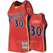 Camiseta Golden State Warriors Stephen Curry 2009-10 Hardwood Classics Naranja