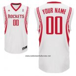 Camiseta Houston Rockets Adidas Personalizada Blanco