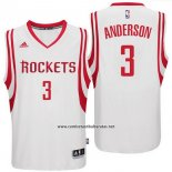 Camiseta Houston Rockets Ryan Anderson #3 Blanco