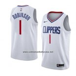 Camiseta Los Angeles Clippers Jerome Robinson #1 Association 2018 Blanco