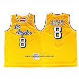 Camiseta Los Angeles Lakers Kobe Bryant #8 Retro Amarillo