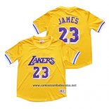 Camiseta Manga Corta Los Angeles Lakers Lebron James Amarillo