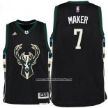 Camiseta Milwaukee Bucks Thon Maker #7 Negro