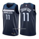 Camiseta Minnesota Timberwolves Jamal Crawford #11 Icon 2017-18 Azul