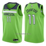 Camiseta Minnesota Timberwolves Jamal Crawford #11 Statement 2017-18 Verde