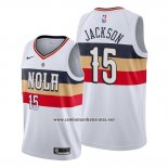 Camiseta New Orleans Pelicans Frank Jackson #15 Earned Blanco
