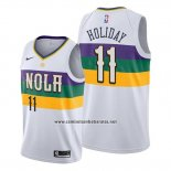 Camiseta New Orleans Pelicans Jrue Holiday #11 Ciudad Edition Blanco