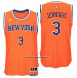 Camiseta New York Knicks Brandon Jennings #3 Naranja