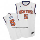 Camiseta New York Knicks Jason Kidd #5 Blanco