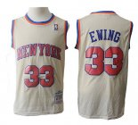 Camiseta New York Knicks Patrick Ewing Retro #33 Crema