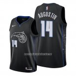 Camiseta Orlando Magic D.j. Augustin #14 Ciudad Edition Negro