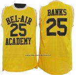 Camiseta Pelicula Bel-Air Academy Banks #25 Amarillo