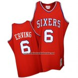 Camiseta Philadelphia 76 Retroers Julius Erving #6 Retro Rojo