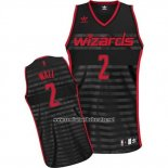 Camiseta Ranura Moda Washington Wizards John Wall #2 Negro