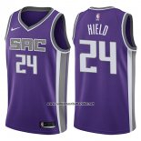 Camiseta Sacramento Kings Buddy Hield #24 Icon 2017-18 Violeta