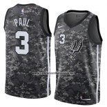 Camiseta San Antonio Spurs Brandon Paul #3 Ciudad 2018 Gris