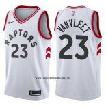 Camiseta Toronto Raptors Fred Vanvleet #23 Association 2017-18 Blanco