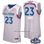 Camiseta All Star 2017 Cleveland Cavaliers Lebron James #23 Gris