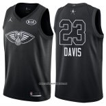Camiseta All Star 2018 New Orleans Pelicans Anthony Davis #23 Negro