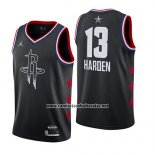 Camiseta All Star 2019 Houston Rockets James Harden #13 Negro
