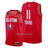 Camiseta All Star 2020 Atlanta Hawks Trae Young #11 Rojo