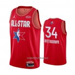 Camiseta All Star 2020 Milwaukee Bucks Giannis Antetokounmpo #34 Rojo