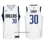Camiseta Dallas Mavericks Seth Curry #30 2017-18 Blanco