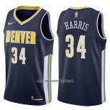 Camiseta Denver Nuggets Devin Harris #34 Icon 2017-18 Azul