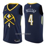 Camiseta Denver Nuggets Paul Millsap #4 Ciudad 2017-18 Azul