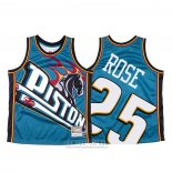 Camiseta Detroit Pistons Derrick Rose #25 Mitchell & Ness Big Face Azul