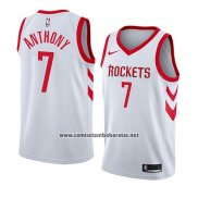 Camiseta Houston Rockets Carmelo Anthony #7 Association 2018 Blanco
