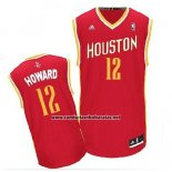 Camiseta Houston Rockets Dwight Howard #12 Rojo Amarillo