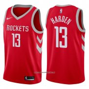 Camiseta Houston Rockets James Harden #13 2017-18 Rojo