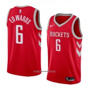 Camiseta Houston Rockets Vincent Edwards #6 Icon 2017-18 Rojo