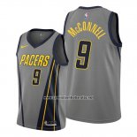 Camiseta Indiana Pacers T.j. Mcconnell #9 Ciudad 2019-20 Gris