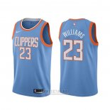 Camiseta Los Angeles Clippers Lou Williams #23 Ciudad Azul