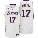 Camiseta Los Angeles Lakers Roy Hibbert #17 Blanco