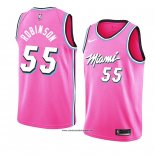 Camiseta Miami Heat Duncan Robinson #55 Earned 2018-19 Rosa