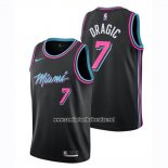 Camiseta Miami Heat Goran Dragic #7 Ciudad 2018-19 Negro
