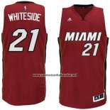 Camiseta Miami Heat Hassan Whiteside #21 Rojo