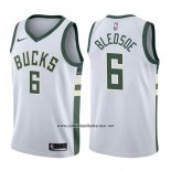 Camiseta Milwaukee Bucks Eric Bledsoe #6 Association 2017-18 Blanco
