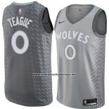 Camiseta Minnesota Timberwolves Jeff Teague #0 Ciudad 2018 Gris