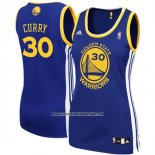 Camiseta Mujer Golden State Warriors Stephen Curry #30 Azul