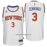 Camiseta New York Knicks Brandon Jennings #3 Blanco